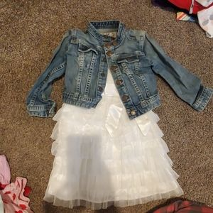 3t Jean jacket with dress outfit
